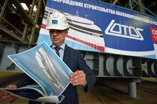 Первый вроссии морской круизный лайнер будет сдан весной 2018 года